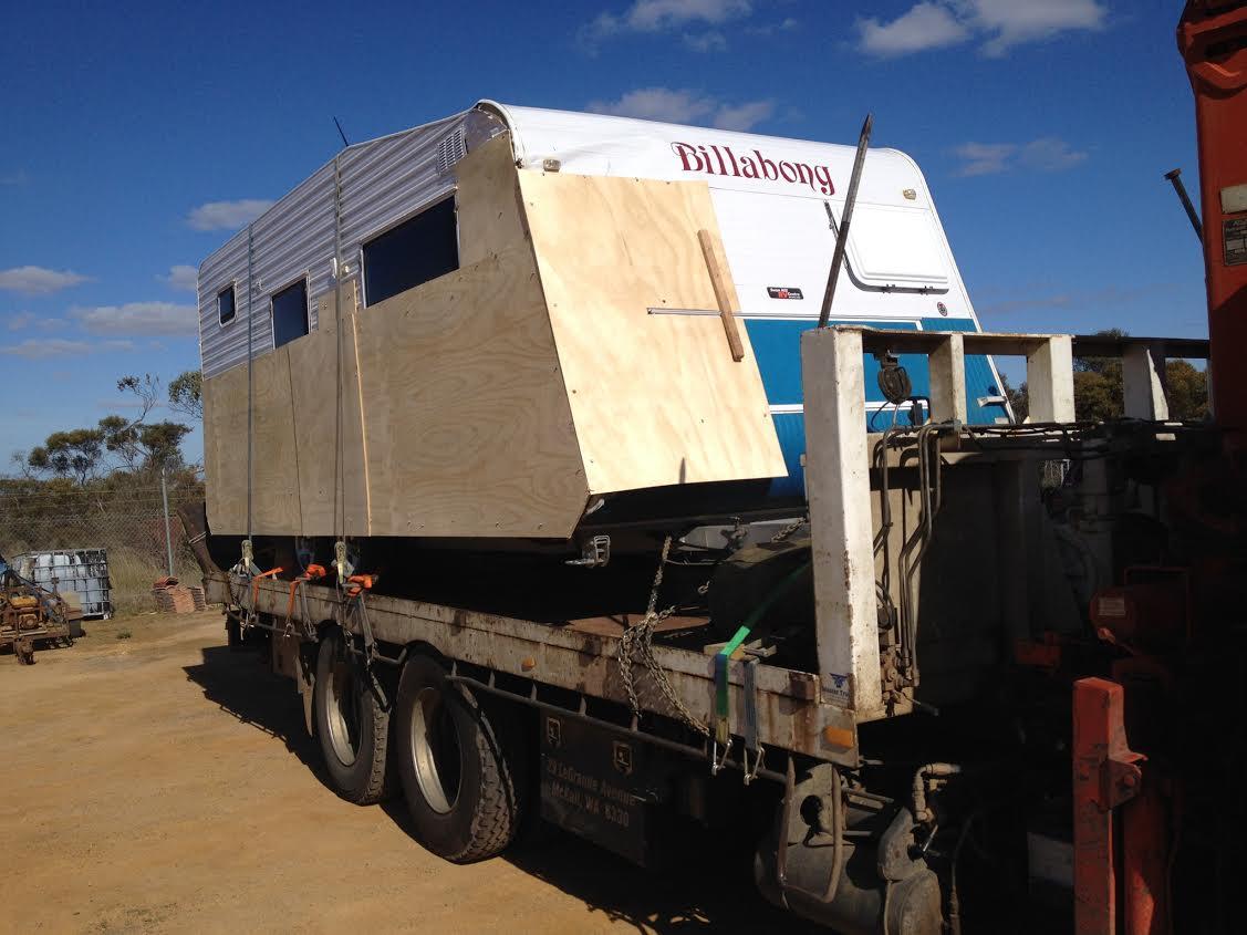 caravan being moved